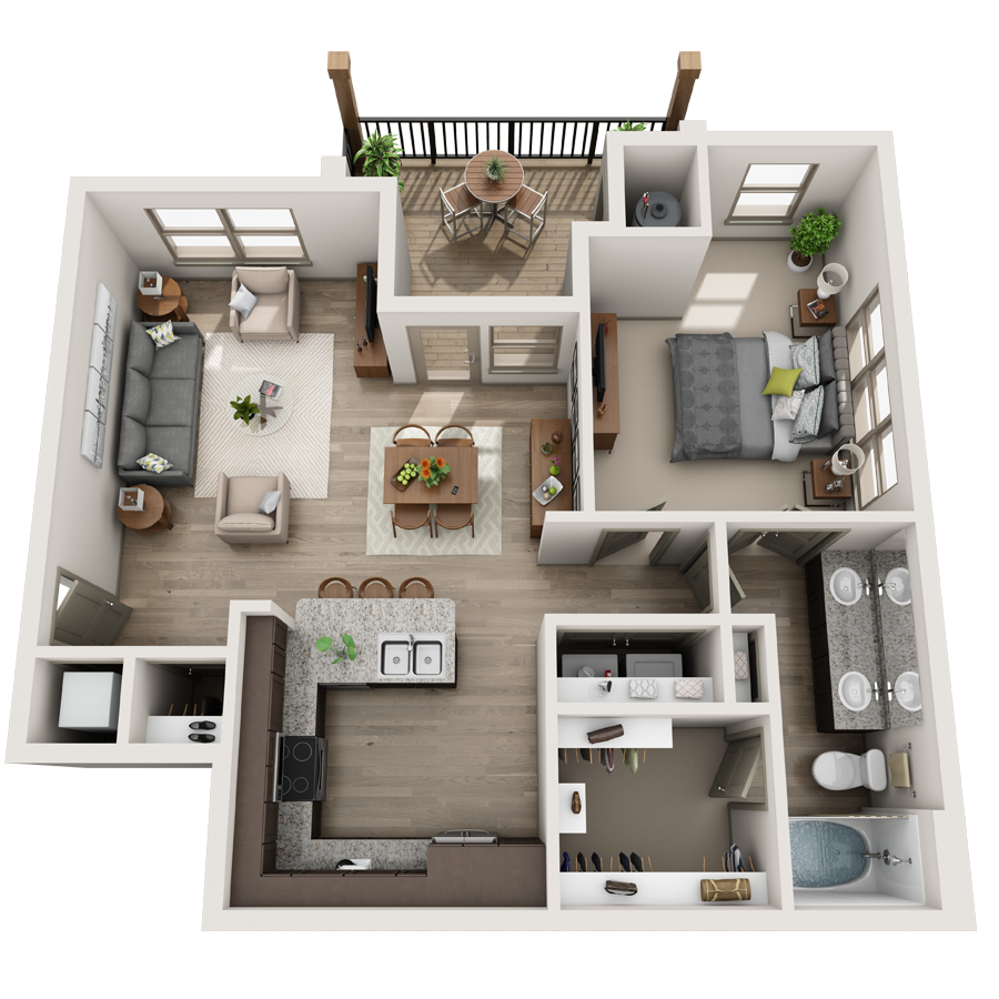 A Collection 04 unit with 2 Bedrooms and 1 Bathrooms with area of 750 sq. ft