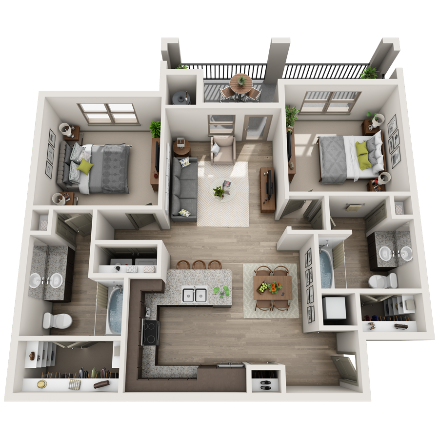 A Collection 06 unit with 1 Bedrooms and 1 Bathrooms with area of 676 sq. ft