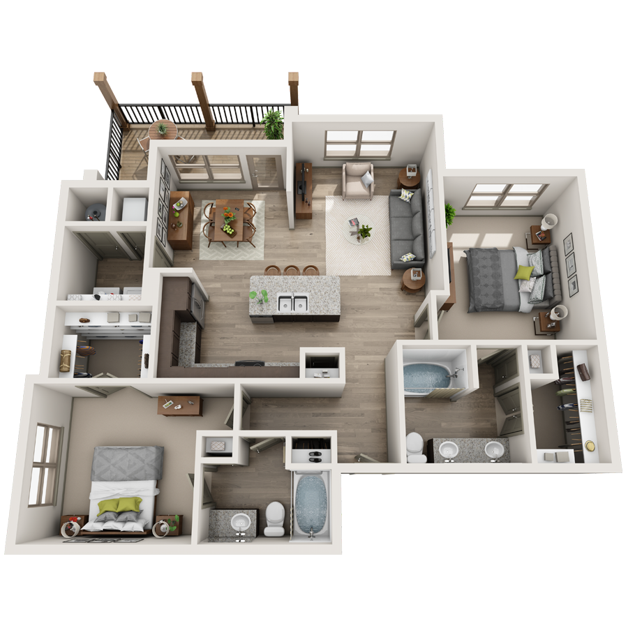 A Collection 01 unit with 1 Bedrooms and 1 Bathrooms with area of 750 sq. ft