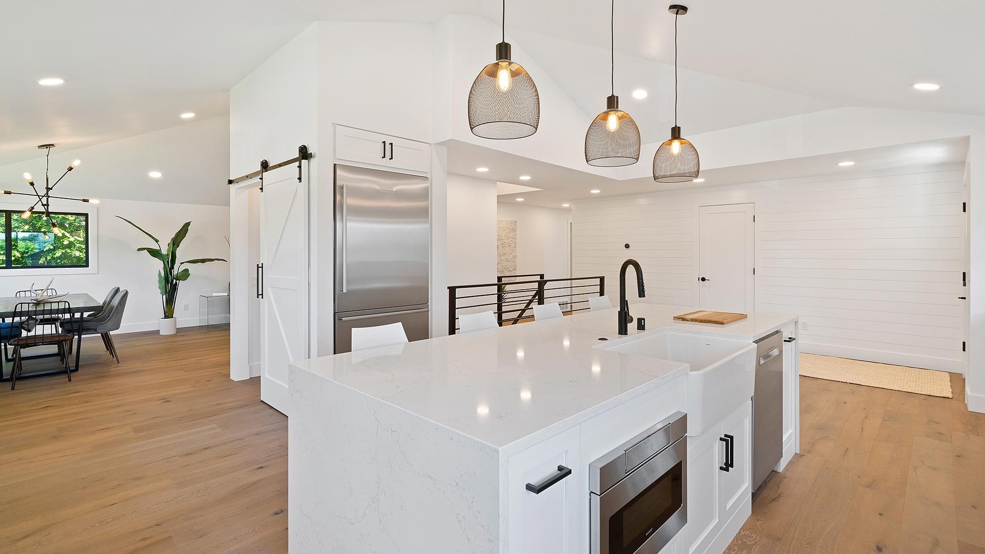 Kitchen view with closet